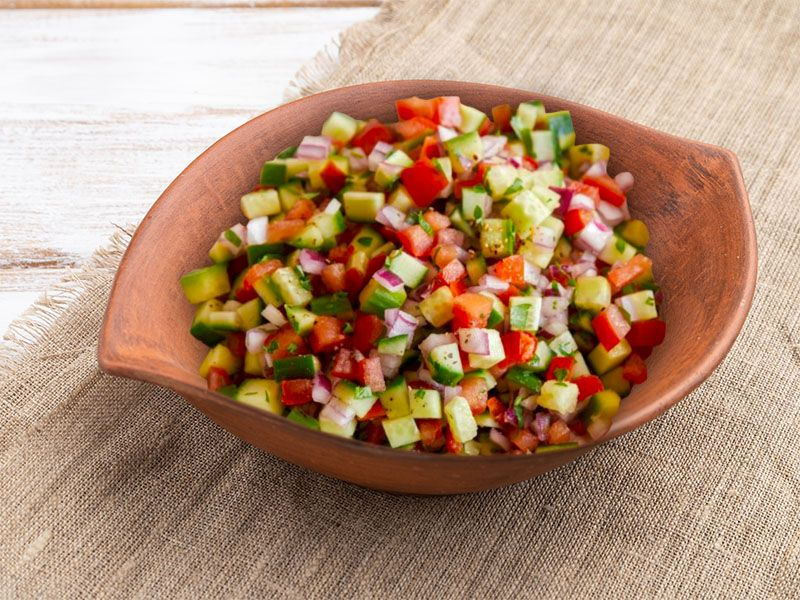 Cucumber Salad with Tomatoes