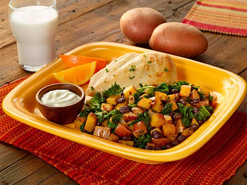 Potato, Black Bean, & Kale Skillet