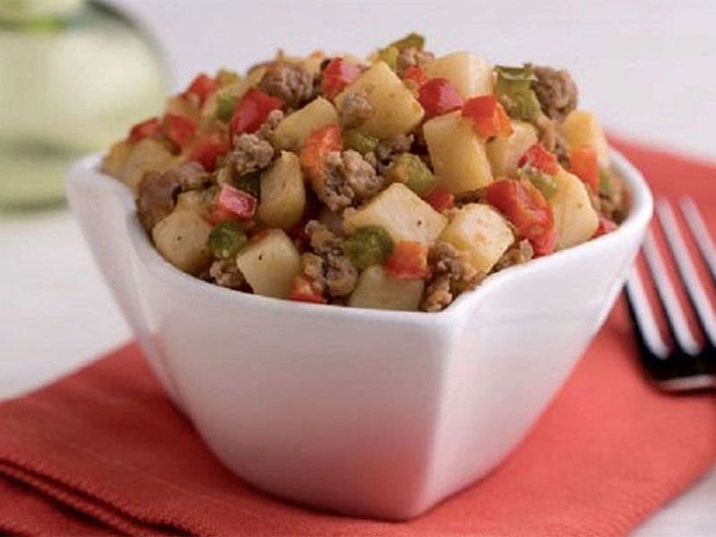Roasted Potatoes and Turkey Hash