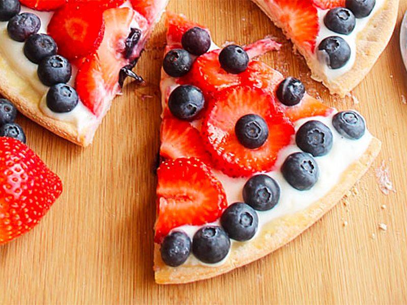 Very Berry Yogurt Pizza